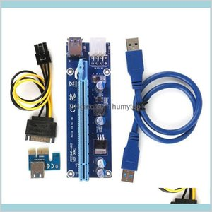 Ver006C Pcie Pci-E Riser Card 006C 6Pin 1X To 16X Extender Usb3.0 Cable Adapter Sata To Ide For Bitcoin Mining Miner Qby02 Nsai6