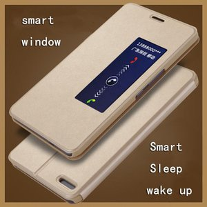 """Intelligent Sleep Wake Up Flip Case For Huawei Honor X2 MediaPad Cover Pu Leather Smart Window 7.0"""" Cell Phone Cases"""