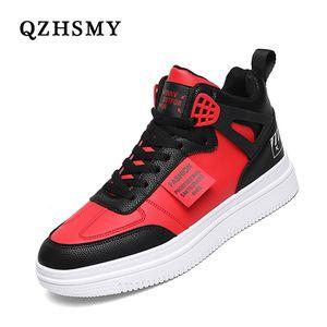 Youth White Women's Men's Sneaker Trend High Top Platform Shoes Men 2021 Spring Designer Vulcanized Shoes Elegant Brand Sneakers 210622