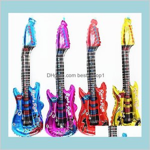 Classic Music Cartoon Guitar Balloon Inflatable Air Instrument Ballon Birthday Concert Party Decoration Musical Instruments Toys I7Ptn