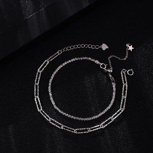 رابط، سلسلة H382 سوار فضي مطل على الفضة الإناث تصميم الرياح المتخصصة، الفاخرة الخفيفة، شعور الراقية البساطة والنمط الرائع