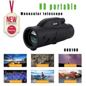 Monocular 200x80 Powerful Binoculars Waterproof High Quality Zoom Large Handheld Binoculars Night Vision Military HD Professiona