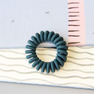 Frauen stricken Telefonleitung Dame Reine Farbe Elastische Basis Haar Ring Mode Zubehör Multicolor 0 6Nr J2