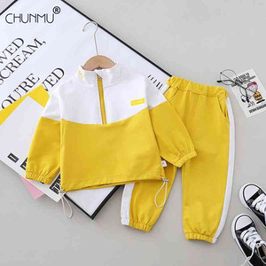 Toddler Spring Baby Boys Clothes Set Infant Cartoon Coat Tops Pants Kids Casual Outfit 210508