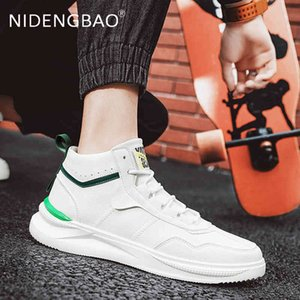 Skate shoes Men Fashion Shoes Reindeer Casual Breathing Light Weight White Sneakers Driving 's Walking 210826