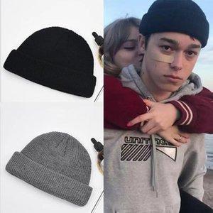 Unisex Autumn Winter Solid Color Watermelon Hip Hop Knit Wool Hat Cap Snow Cap