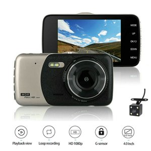 4 Inch Dual Lens Car DVR 1080P Dash Cam Video Recorder With LED Night Vision Rear View Camcorder Auto Camera T5