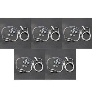 Universal 3.5mm Anti Radiation Binaural Earphones Air Tube Acoustic Earbuds Stereo Headphones With Microphone Headsets