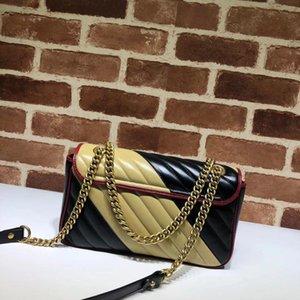 Vannogg Marmont 가방 럭셔리 최고 품질 디자이너 핸드백 원래 소프트 정품 오일 왁스 가죽 여성 어깨 가방 446744 443497
