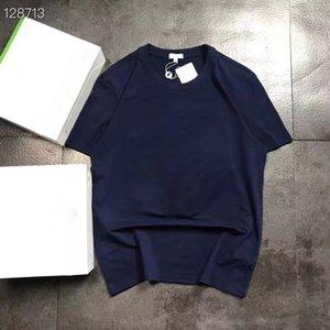 원인 남성 여성 여름 티셔츠 코튼 편지 자수 남성 여자 짧은 소매 티셔츠 커플 Tshirts Hip Hop Streetwear S-XL 편안한 통기성 JK102