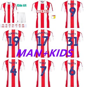 2021 2022 Stoke City Soccer Jersey 22 Clucas 26 Campbell 11 McClean 19 Gregory 9 Vokes 25 Powell 14 Smith Football Shirt Kits