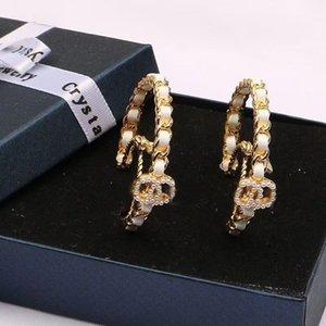 Luxurys Letter C Desingers Ear Studs Fashion Gold Woman Hoop Earrings For High Quality Earloop Pendants jewelry nice