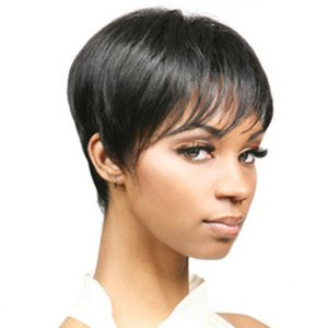 wigs Women's black Bobo head short wig for men and women