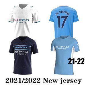 2021 2022 Sterling de Bruyne Foden 21 22 Balr fãs futebol jersey cidade camisa de futebol homem equipmen