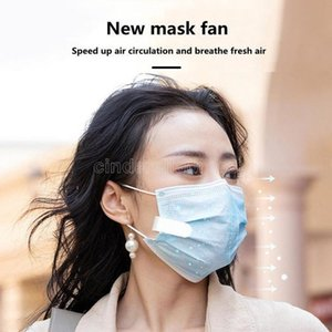 2021 Design mini mask fan with Clips portable USB charging type cute girl silent fan for outdoor travel CJ12