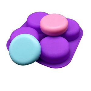 Craft Tools 4 Cavity Round Square Flower Soap Molds Handmade Making Cake Aroma Resin Ice Cubes Chocolate Decorating