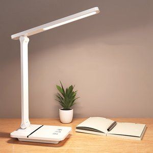 LED USB Touch Dimming Desk Lamp Eye Protection Working Reading Recharageable Table Lamp Mobile Phone Stand Light 3 Colors