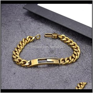 Id, Identification Drop Delivery 2021 Designers Bangle Titanium Steel Fashion Bracelet For Women And Men Jewelry Gifts Gold Bracelets Watj5