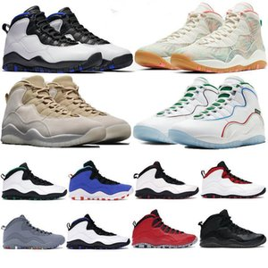 2022 mens 10 10s shoes Drake OVO white Seattle Chicago steel sneakers tinker wing stylist sports trainers