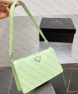 prada handbags Designer Handtaschen Luxurys2021 Spiegelfarbe Kleine Square Tasche Schulter tragbare Mode Joker Candy-farbig voller Grün