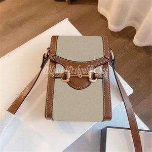 Luxuriöse Damen Designer Berühmte 2021 Handtaschen 1955 Serie Presbyopia Pferdeschnalle Klappen Taschen Einfache Eleganz Umhängetasche Leinwand Handtasche Kreuzkörper