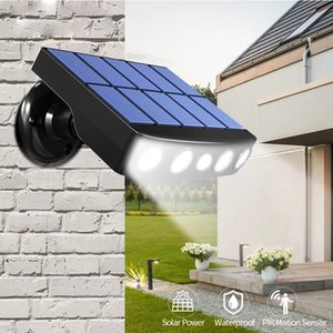 LED solar outdoor wall lamp PIR motion sensor waterproof light Spotlights For Garden Path Street Lights