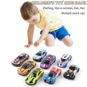 8pcs Classic Alloy Racing Graffiti Diecasting Car 164 Simulation Mini Pocket Pull Back Inertia Car For Childrens Toy Gift