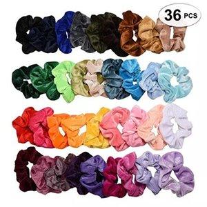 Wholesale winter velvet bag Korean lady Bohemian fashion hairband girl srunchie 36 unids   batch