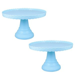 Baking & Pastry Tools 2pcs Birthday Wedding Party Cake Display Plate Cupcake Storage Stand
