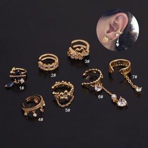 Fashion Cz Ear Cuff No Piercing Conch Cuff Earring Cartilage Helix Conch Fake Piercing Jewelry