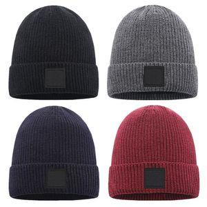 الأزياء محبوك قبعة الرجال النساء الشتاء قبعة جيدة نوعية جيدة الجمجمة قبعات عارضة بونيه الصياد gorro سميكة سميكة متماسكة كاب الكلاسيكية الرياضة بلون للجنسين القبعات الدافئة