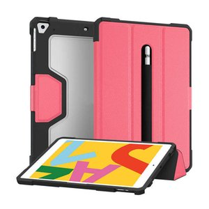 For Ipad 10.2 Inch Protective Case Leather Smart Shockproof Rugged Back Cover Compatible with 8th 7th Gen