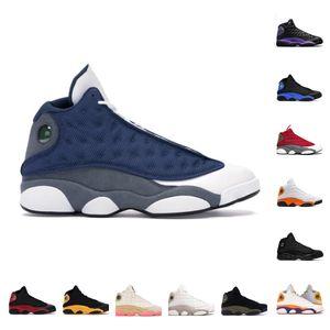 Venta al por mayor Hombres Mujeres 13 Zapatos de baloncesto Isla Negro Green Chicago Bred Reverse El juego 13s Sneakers Playground Olive Lakers Gym Fleal Grey Mens Sports Shoes