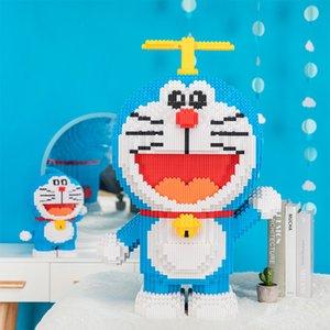 Oi Caipin Adulto Alta Dificuldade Montagem Building Blocks Brinquedo Oversized Doraemon Pokonyan Azul Gordo Homem Presente