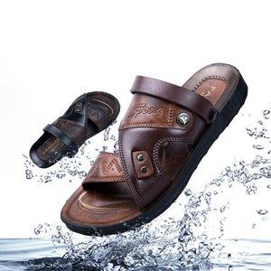 Wotte Summer Men Sandali Sandali Casual Casual Scarpe antiscivolo Breaspable Beach Sandalias Due modi Indossare Scarpe Sandalias Homme 210323