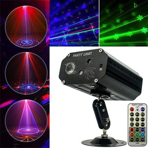 LED Laser Lighting Strobe Stage Light Dj Disco Lights Activated Multiple Patterns Projector Remote Control for Parties Bar Birthday Wedding Holiday Decorations
