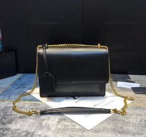 Сумки женщин роскоши дизайнеры натуральная кожаная сумка с буквами леди цепи крокодил узор мешок сумки оптом сумка для плеча