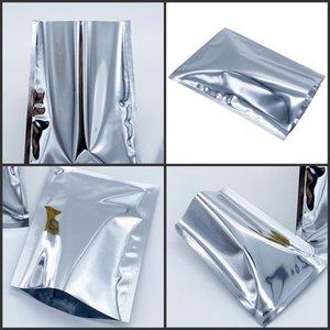 Sacos de alumínio de alumínio prata sacos de calor malotas de vácuo bolsa de alimento secado Pó Armazenamento Mylar embalagem de embalagem Bag3 85 S2