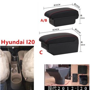 Pour accoudoirs de voiture I20 Reste en cuir Reste USB Boîte de rangement ABS Center Console Accessoires Pièces intérieures Automobile Autres