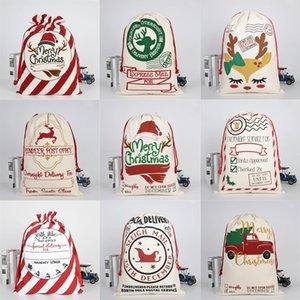 Bolsa de regalo de Navidad Saco Saco Santa Claus Almacenamiento de algodón Bolsa de caramelo Niños grandes Decoración del partido