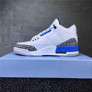 Top Quality With Box Jumpman 3 3s Valor Blue Mens Basketball Shoes