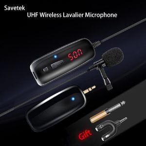 Savelek UHF Lavalier Lavel 무선 마이크 음성 레코더 녹화 VLOG YouTube Tiktok 전화 패드 PC 안드로이드 마이크