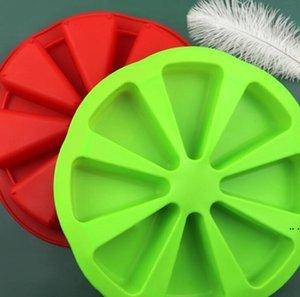 3D Bakeware moldes non-stick rodada 8 buracos forno laranja laranja placa de pizza geléia muffin mousse mousse diy bolo molde de bolo pan hwd5695