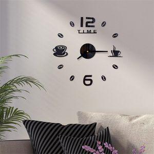 Acrylic Wall Clock DIY Mirror Wall Clock Art Acrylic 3D Mirror Sticker Home Office Decor Unique Gift RRD7045