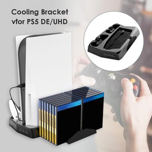 Vertical Stand Supplies Office Caring Computer For PS5  Digital Edition With Cooling Fan Dual Controller Charger Fans & Coolings