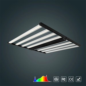 Samsung LM281B Spider Dimmable 640w Full Spectrum Foldable Waterproof led grow light bar for indoor veg bloom