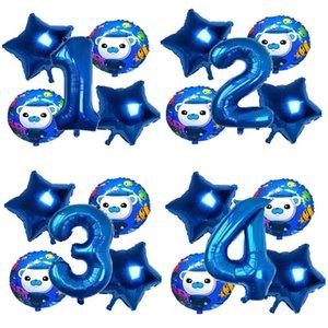 confetti The Octonauts Theme Party Decoration Number of Ballon Set Kid Happy Birthday Fairy s Cartoon Figure Aluminium Film Balloons