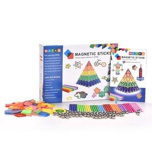 350pcs set Colorful Magnetic Sticks Building Blocks Early Education Toys Metal Balls DIY Stem Game For Kid Children Gifts
