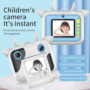 Kids Instant Print Camera 24MP 1080P HD Video Digital Toys Birthday Gift For Children's With Thermal Paper Cameras
