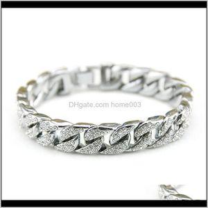 Drop Entrega 2021 Joyería de Hip Hop Full Out CZ Big Dog Cuban Chain Link Charm Bracelets para hombres LZ898 i20b5
